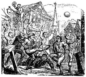 "An illustration of so-called ""mob footbal..."
