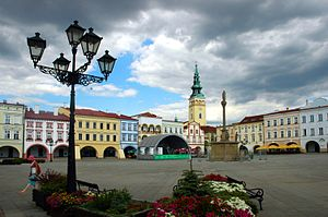 Nový Jičín, central square, Czech Republic