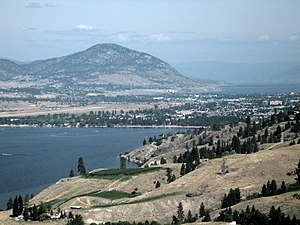 A view from the south of Penticton, British Co...