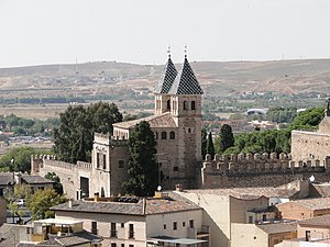 English: The New Bisagra Gate, Toledo, Spain F...