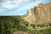 A scenic view of Smith Rock, central Oregon.