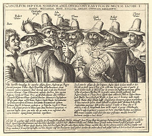 The Gunpowder Plot Conspirators, 1605, by unkn...