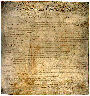 Deutsch: Bill of Rights der USA 1789, in der d...