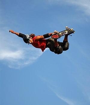 skateboard vert jump at the sprite urban games...