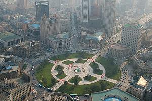 Zhongshan Square in the city of Dalian, Liaoni...