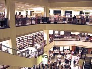 The interior of the Barnes & Noble located at ...