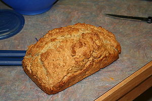 A loaf of Beer Bread. Ingredients: 1 12oz bott...