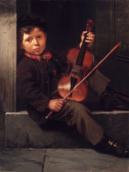 File:Brooklyn Museum - The Boy Violinist - John George Brown - overall.jpg