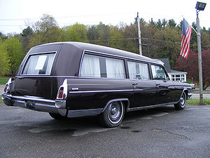 English: Buick Flxible Hearse (note spelling f...