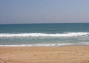 The beach and surf at Canaveral National Seash...