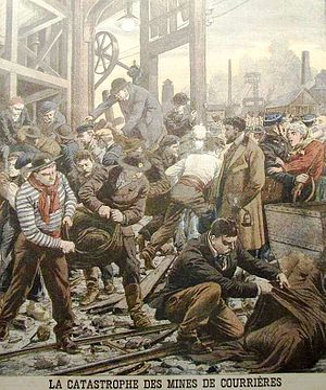 Bergung der Opfer des Grubenunglücks