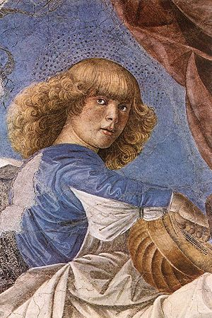 One of Melozzo's famous angels from the Basili...