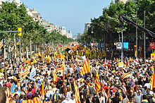 Supporters of Catalan independence