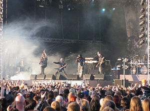 Dimmu Borgir performing at 2008's Tuska Open A...