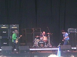 At the Leeds Festival, August, 2005