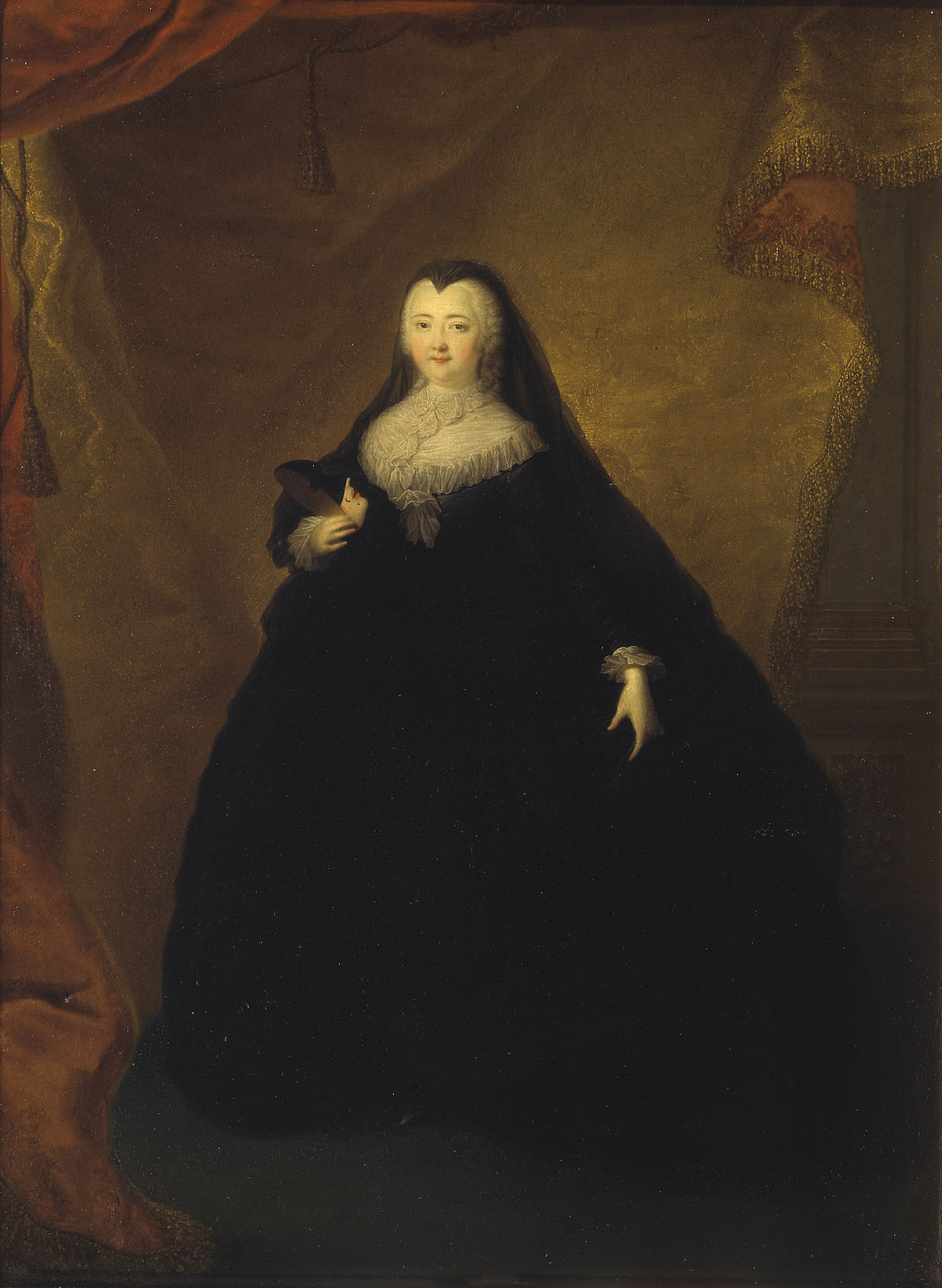 Elizabeth of Russia in masquerade dress by Grooth (1748, Tretyakov gallery).jpg