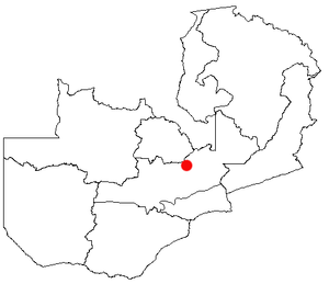 English: Kapiri Mposhi, Zambia Location Map; c...