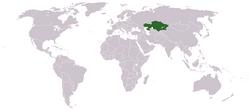 Vị trí của Kazakhstan