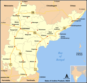 Major road links of Andhra Pradesh