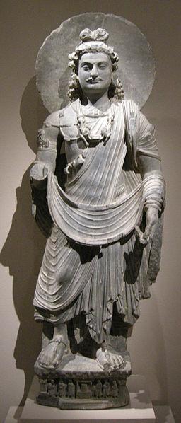 File:Met, gandhara, standing bodhisattva maitreya, 3rd century ca..JPG