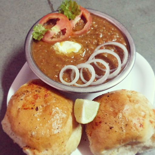 Mouth Licking Pav Bhaji