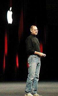 Steve Jobs delivering the 2005 keynote address.