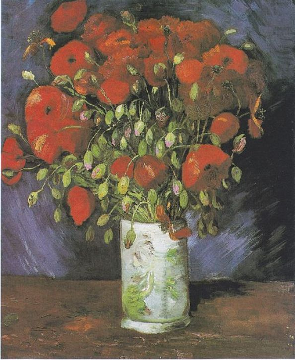 """""""Vase with Red Poppies"""" by Vincent van Gogh"""