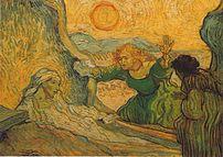 The Resurrection of Lazarus  by Vincent van Gogh (after Rembrandt), 1889-90 (Auvers-sur-Oise, Paris).