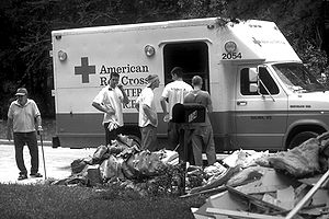 The American Red Cross assists flood victims f...