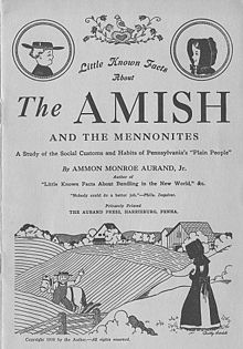 "Cover of ""Little Known Facts About The Amish and the Mennonites. A study of the Social customs and Habits of Pennsylvania's Plain People. By Ammon Monroe Aurand, Jr. Aurand Press. 1938."