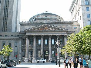 Bank of Montreal Head office, at 129 Saint-Jac...