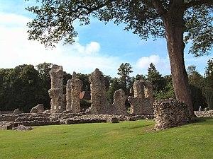 Ruins of Bury St. Edmunds Abbey.
