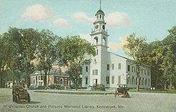 First Parish Church in 1909