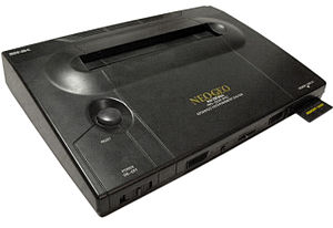 Photo of a Neo Geo AES video game console