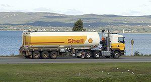 Shell tanker truck.