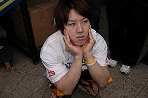 The image of competitive eater, Takeru Kobayas...