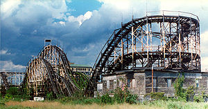 The former Thunderbolt roller coaster, Coney I...