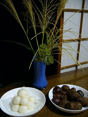 tsukimi,moon-viewing-party,dumpling & chestnut...