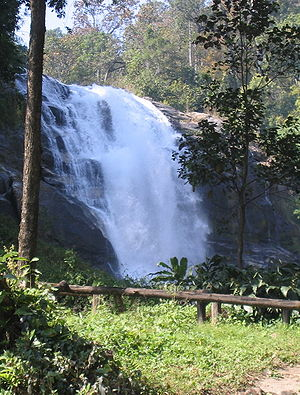 Vachiratharn Waterfall at Doi Inthanon Mountai...