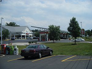 English: Wawa gas station located along Pennsy...