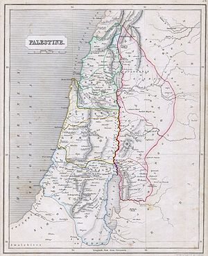 This is an 1845 Map of Palestine or Israel or ...
