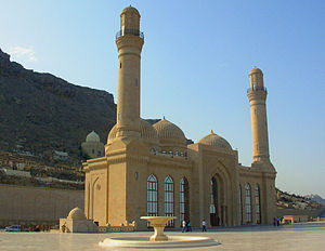 English: Bibi Heybat Mosque in Baku, Azerbaijan