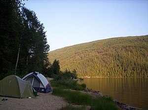 English: Camping by Barriere Lake, Barriere, ,...
