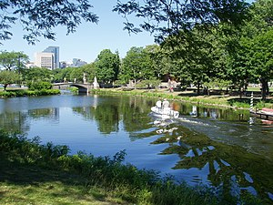 A summer day on the Charles River Esplanade, B...