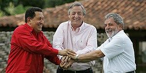 Brasília - Presidente Lula e os presidentes Hu...
