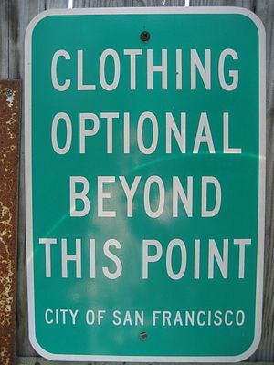 """Clothing Optional"" sign from San Fr..."