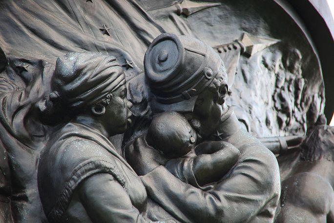 Confederate Monument - NE frieze mammy - Arlington National Cemetery - 2011