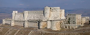 Krak des Chevaliers in Syria. It is an 11th ce...