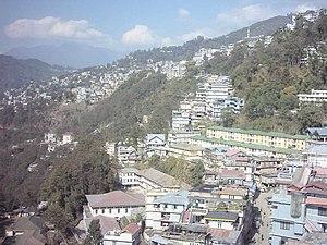 Gangtok desde su teleférico