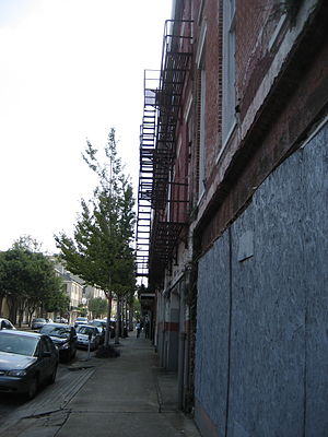 Julia Row, New Orleans. Buildings closest to S...